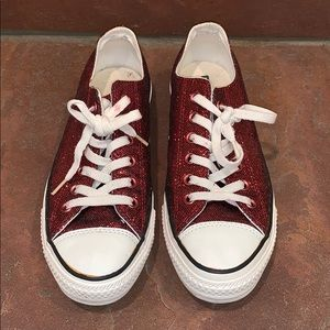 Red Glitter Converse All Star Chuck Taylor Lo-Top
